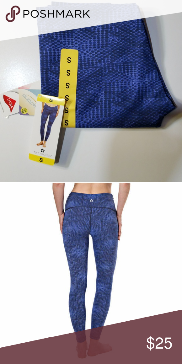 d19d467487f621 Tuff athletics yoga legging high waist NWT Brand New with tag Women's Tuff  Athletics Color: Bright Blue Condition: New With Tags Size: Small Material:  50% ...