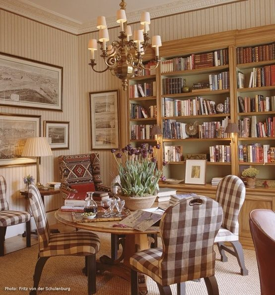 Morgan Library Dining Room: Cool Library Dining Room Combo With Sitting Area