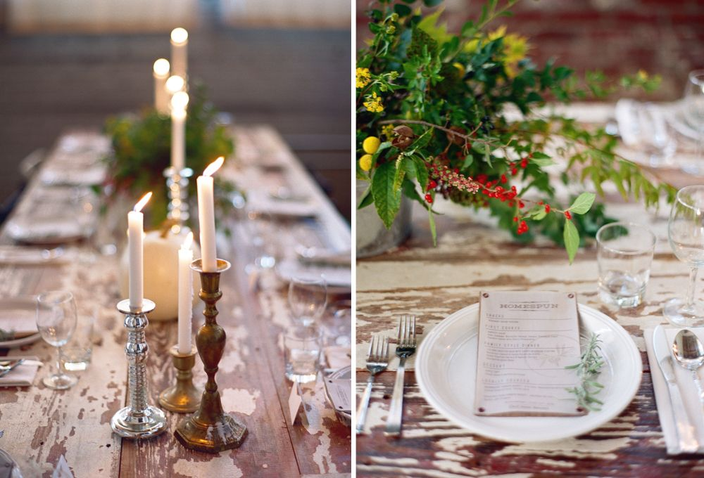 Homespun ATL November Dinner Menu // Foraged Centerpiece