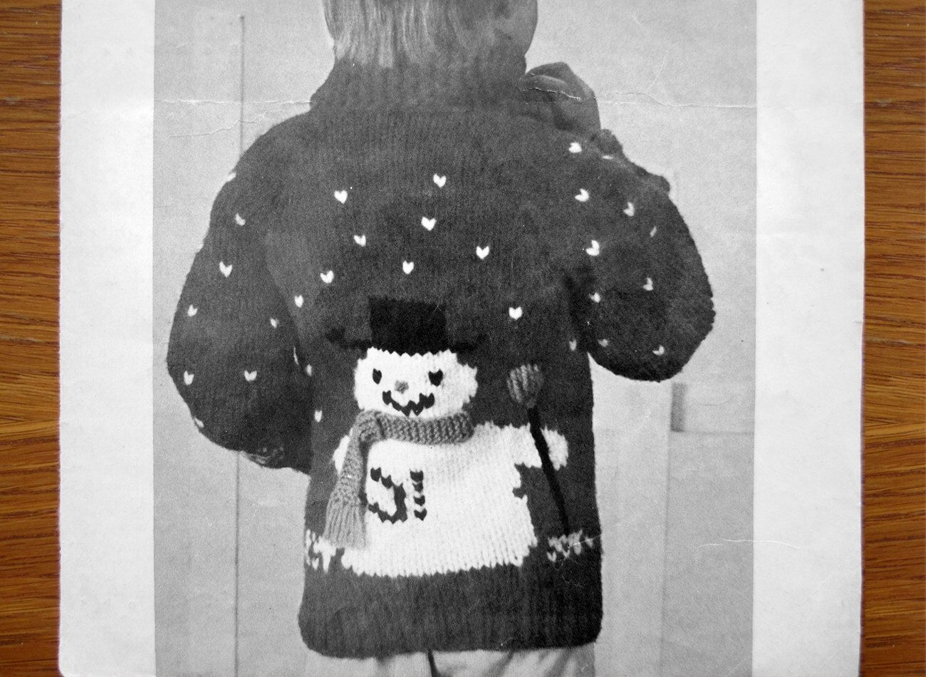 Vintage SNOWMAN Sweater KNITTING PATTERN Mary Maxim Graph ...