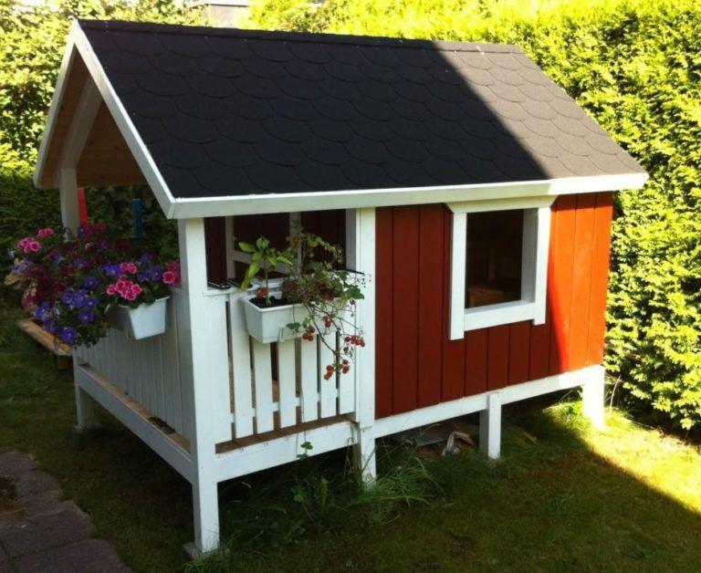 DIYProjekt GartenSpielhaus für Kinder Bauabschnitt 5