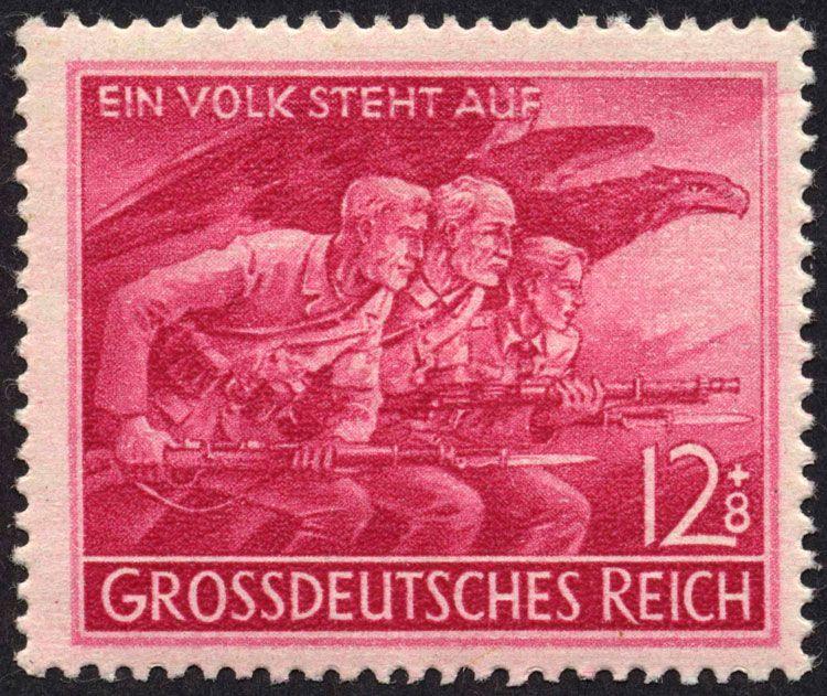 """Michel 908 """"Ein Volk steht auf"""" 1945 Briefmarken"""