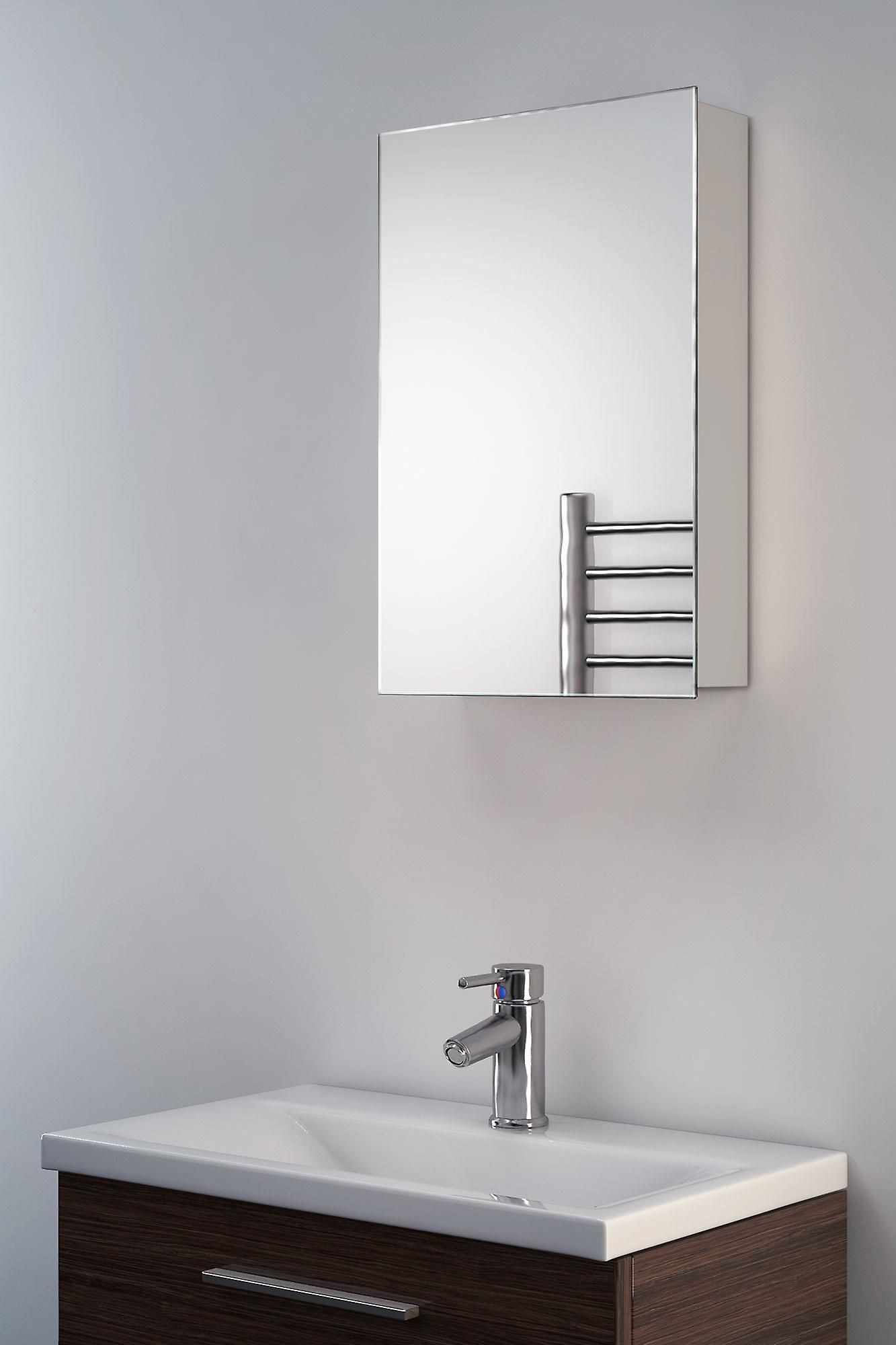 bathroom with deco contemporary prod product rectangular shelf wall mirror lav mounted