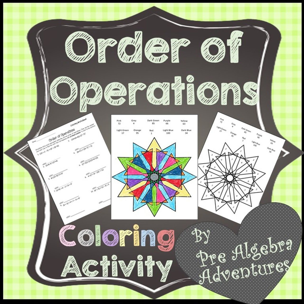 Order Of Operations Coloring Activity In