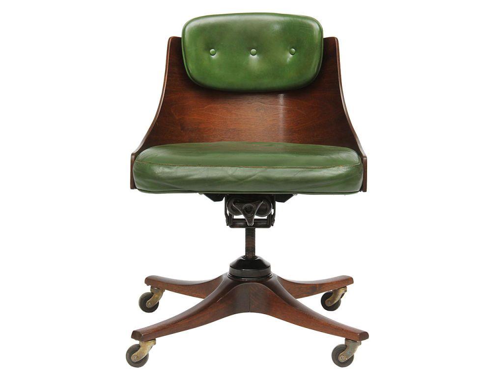 barrel back desk chair by Edward Wormley for Dunbar image 2
