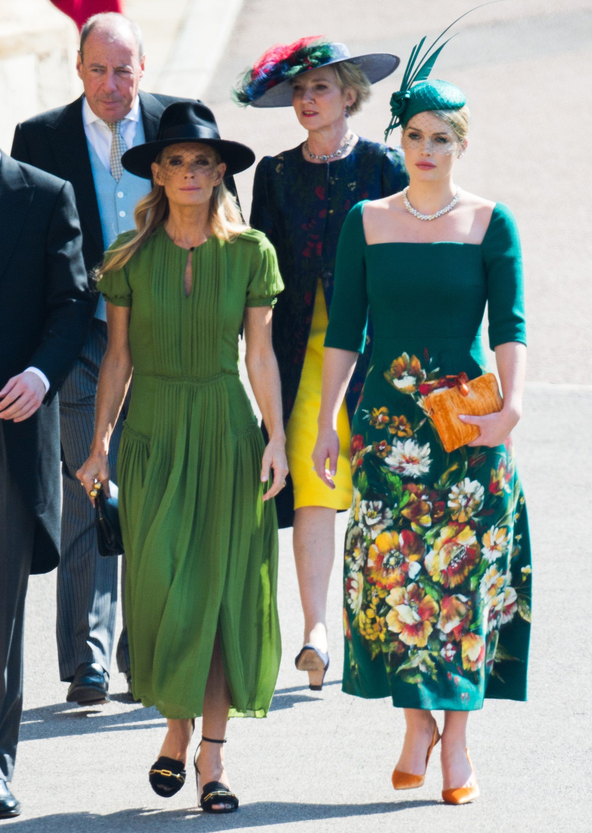 Royal Wedding of Prince Harry   Meghan Markle ❤ Lady Kitty Spencer walking  beside her mother Victoria Aitken to attend the wedding of her first cousin  ... 18a3ab27774f