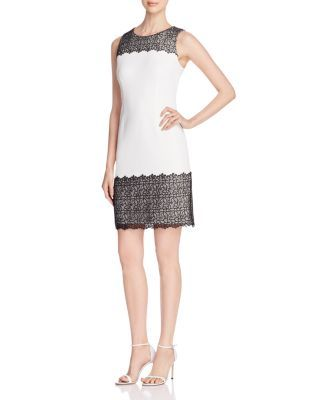 2d55d9f8b42 Calvin Klein Lace Appliqué Sheath Dress