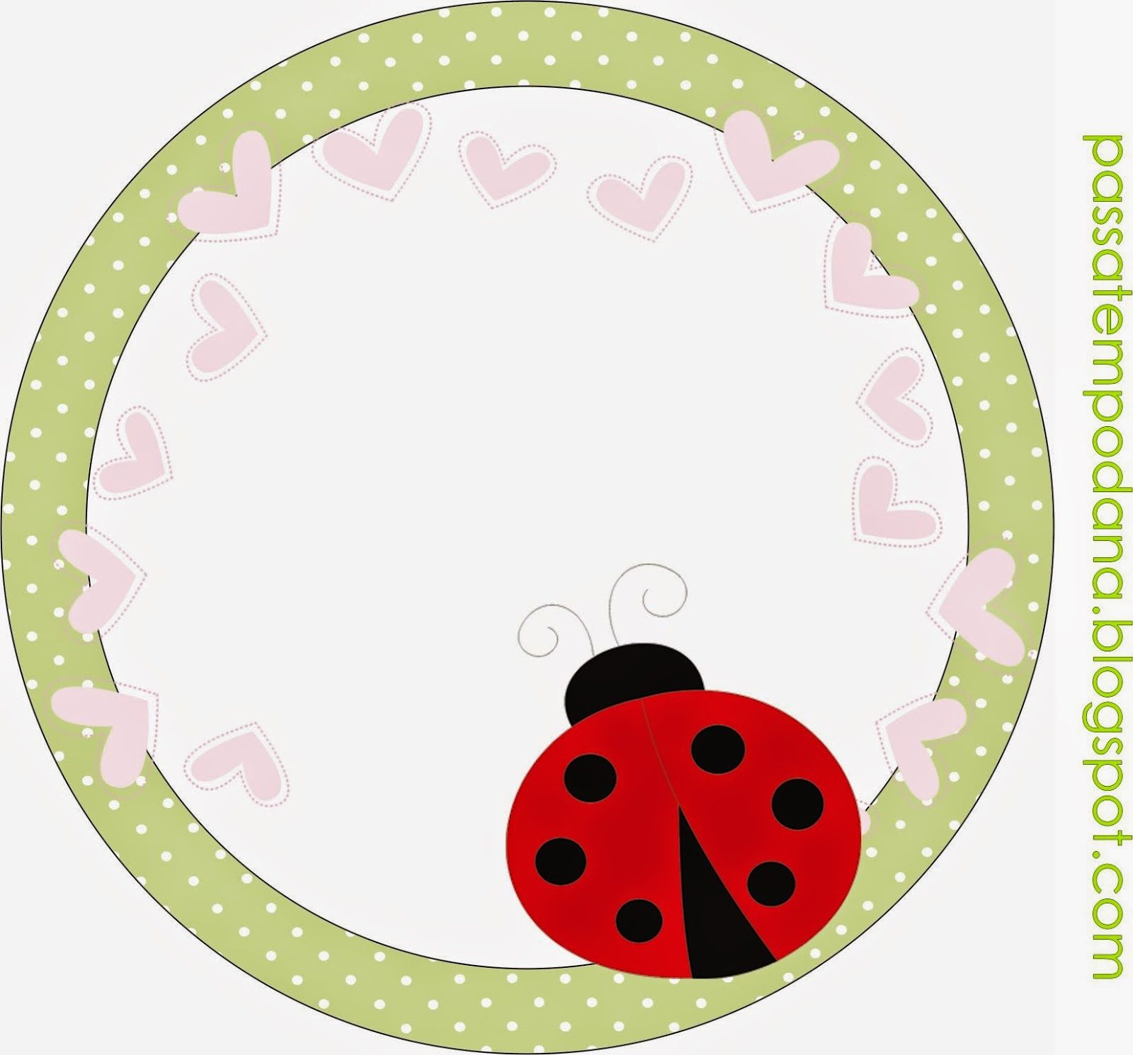 Ladybugs Free Printable Toppers