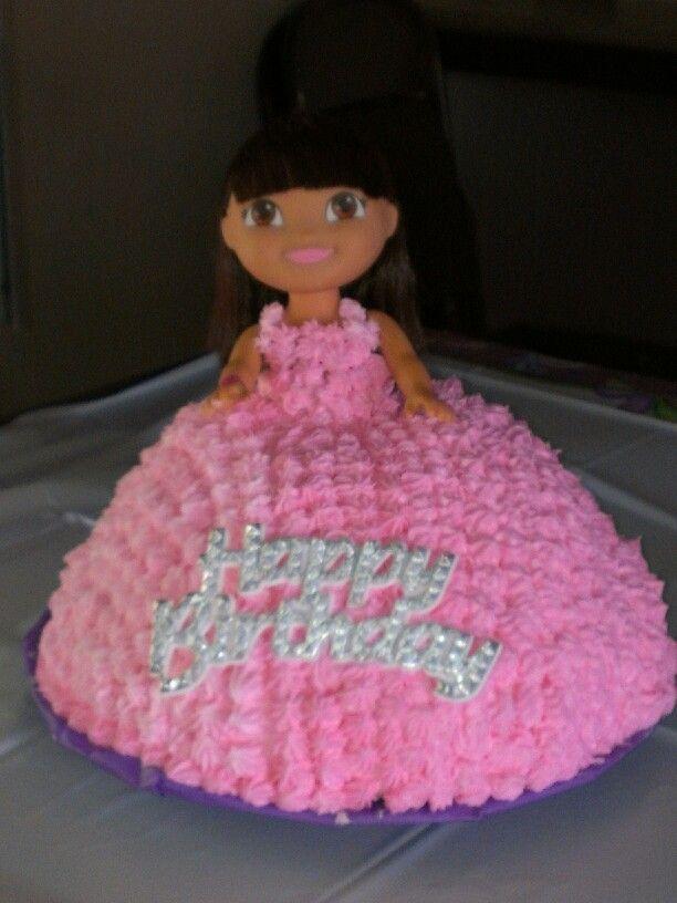 Pleasant Dora Doll Birthday Cake Got The Doll At Walmart Cake Is Similar Personalised Birthday Cards Xaembasilily Jamesorg