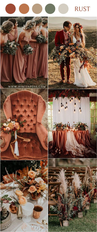 20 Rustic Bohemian Rust Wedding Color Ideas for 2020