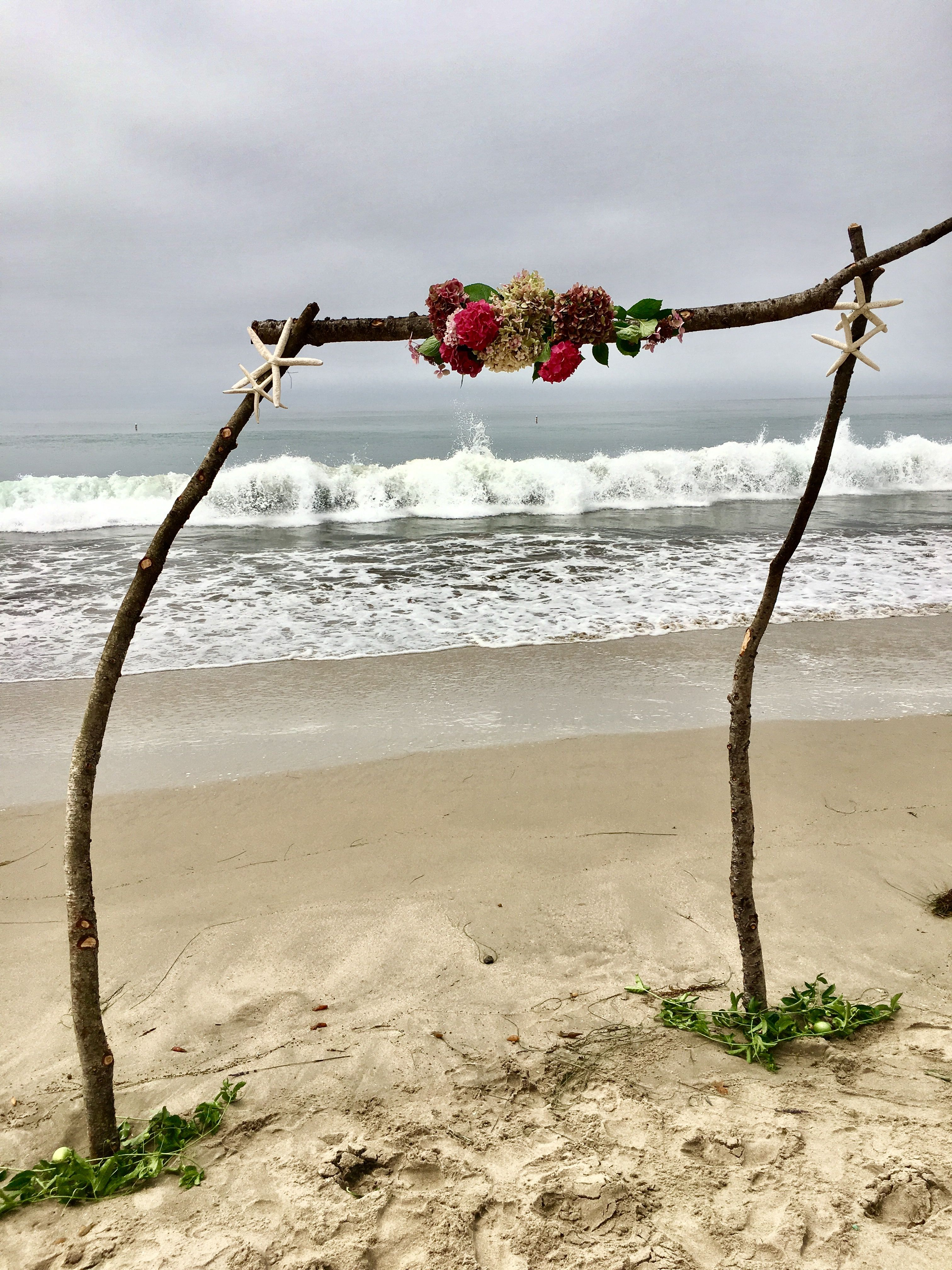 Unique Rustic Wedding Arch Or Two Post Arbor Natural Beach