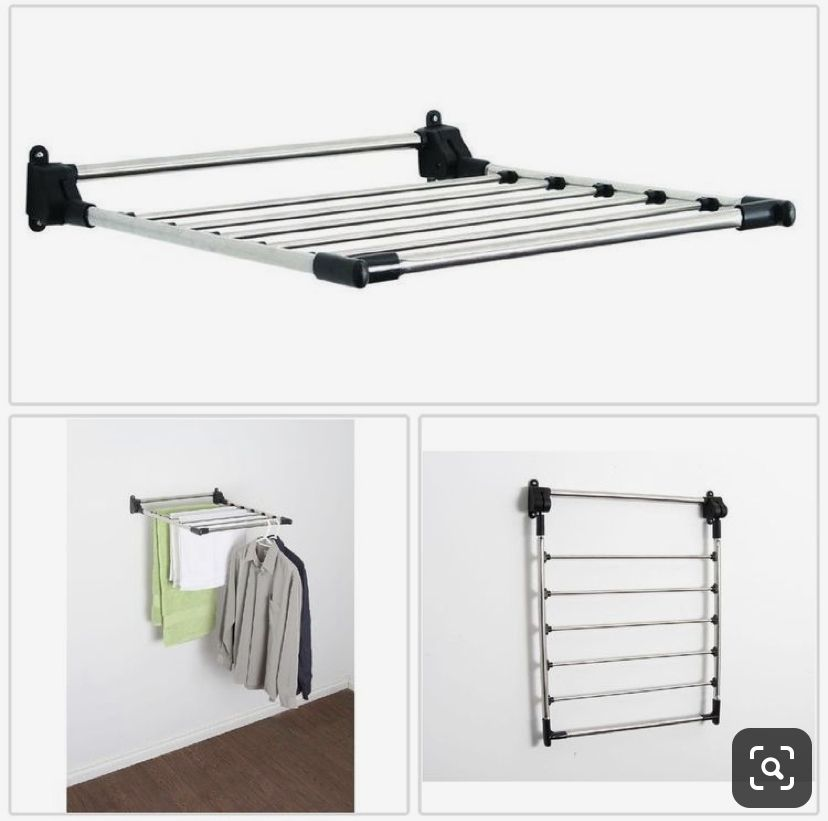 Screw One Of Those Out Door Drying Rack From Bunnings Into The Wall In Second Bedroom Was Part Wall Drying Rack Wall Mounted Drying Rack Laundry Clothes Hanger