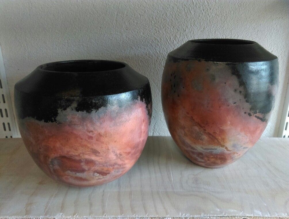 Claire Molloy Ceramics Saggar Fired Vessels Nebulae Series