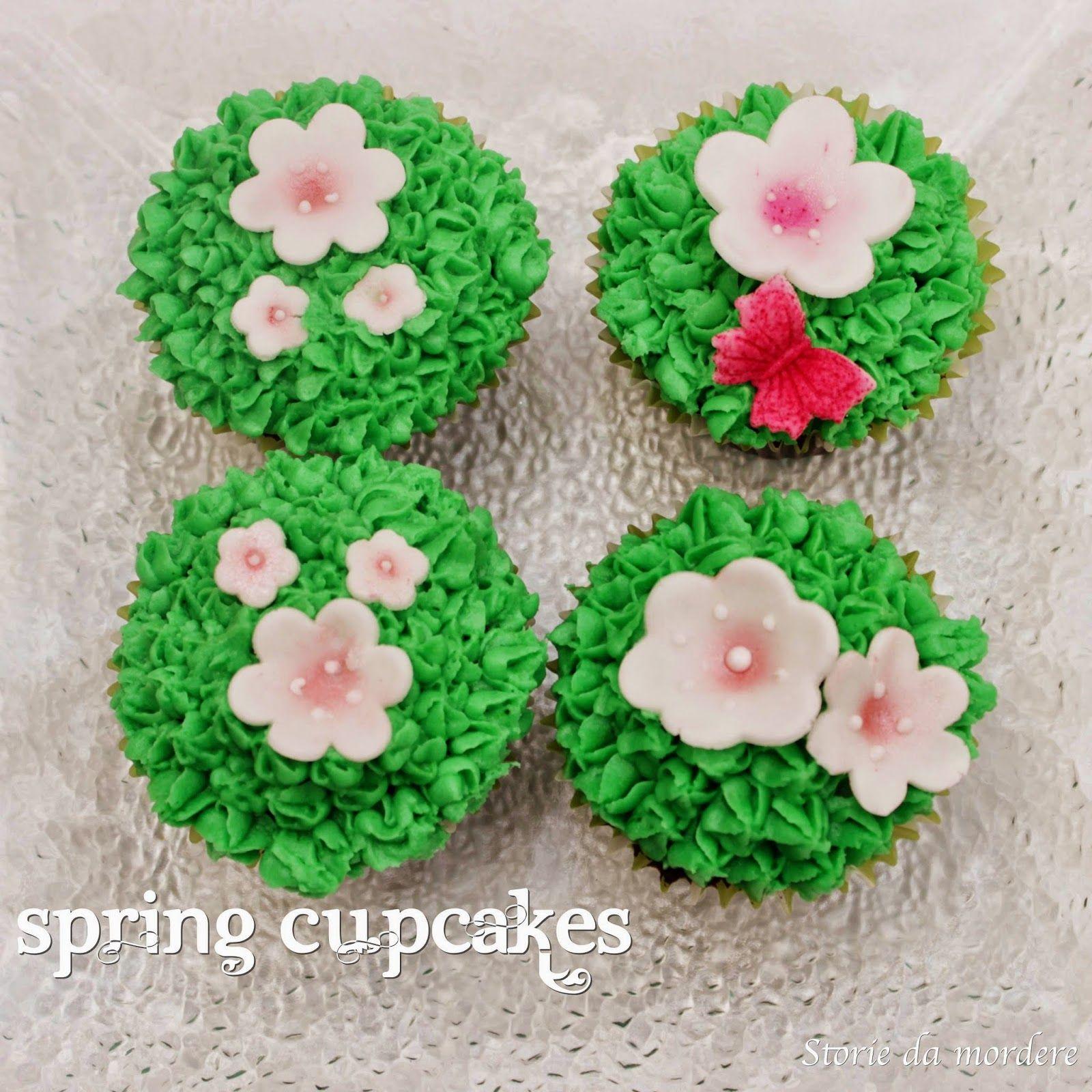 Spring chocolate cupcakes