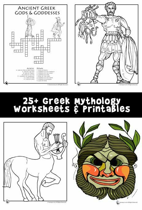 Greek Mythology Worksheets amp Coloring