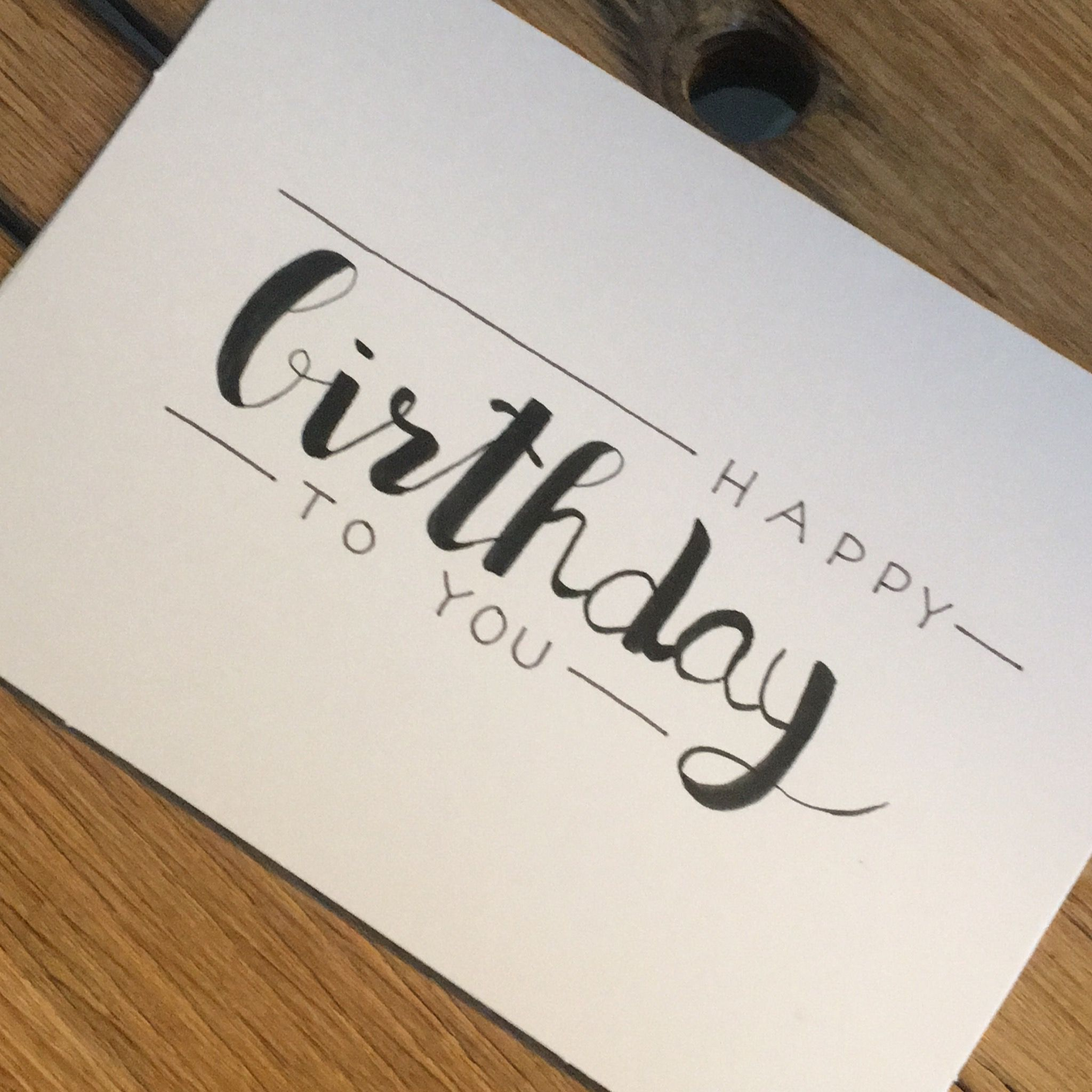 Birthday Card Drawing, Hand