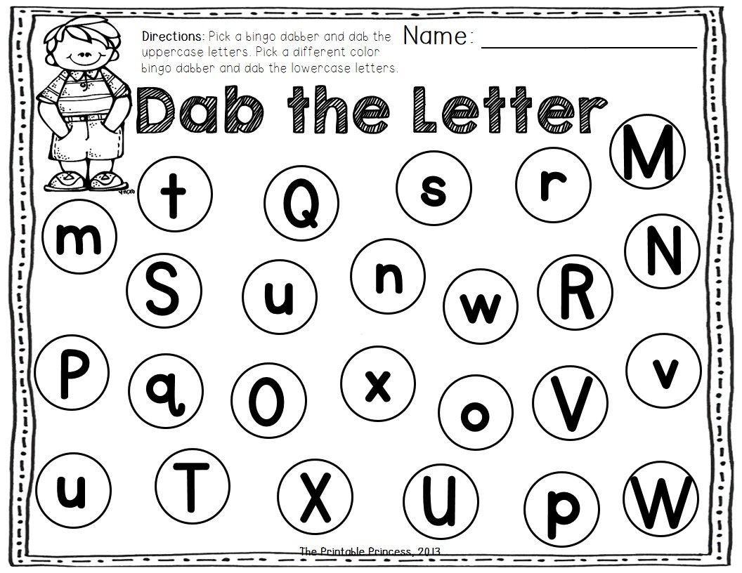 A Dab Of Learning Bingo Dabber Alphabet Amp Number