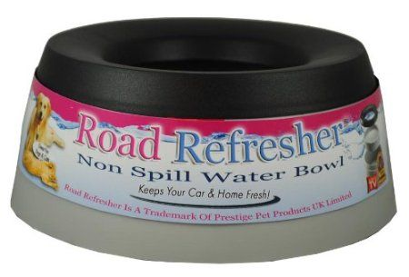 Jolly Pets Road Refresher Non-Spill Water Bowl, Gray, 24 Ounces