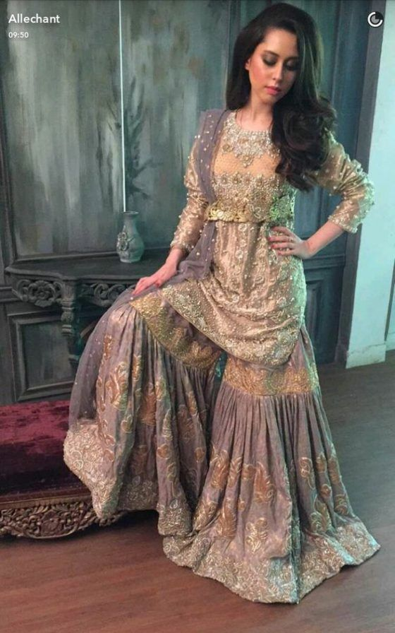 8cb4bfaebf Latest Wedding Bridal Sharara Designs & Trends 2018-2019 Collection  Pakistani Wedding Dresses,