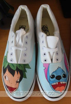 a3ba8f43667d Custom Anime Vans lilo and stitch shoes anime Vans painted shoes ...