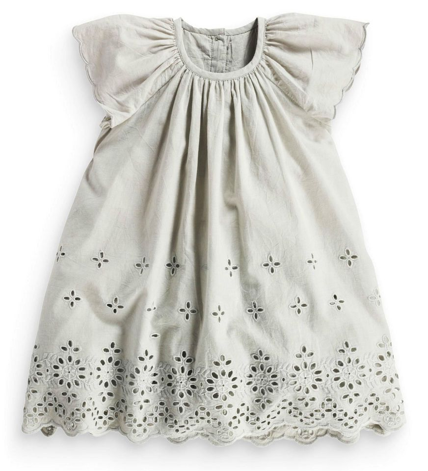 5e452ab60 Next Girls 3-4 Years Grey Broderie Cotton Lace Tunic Dress