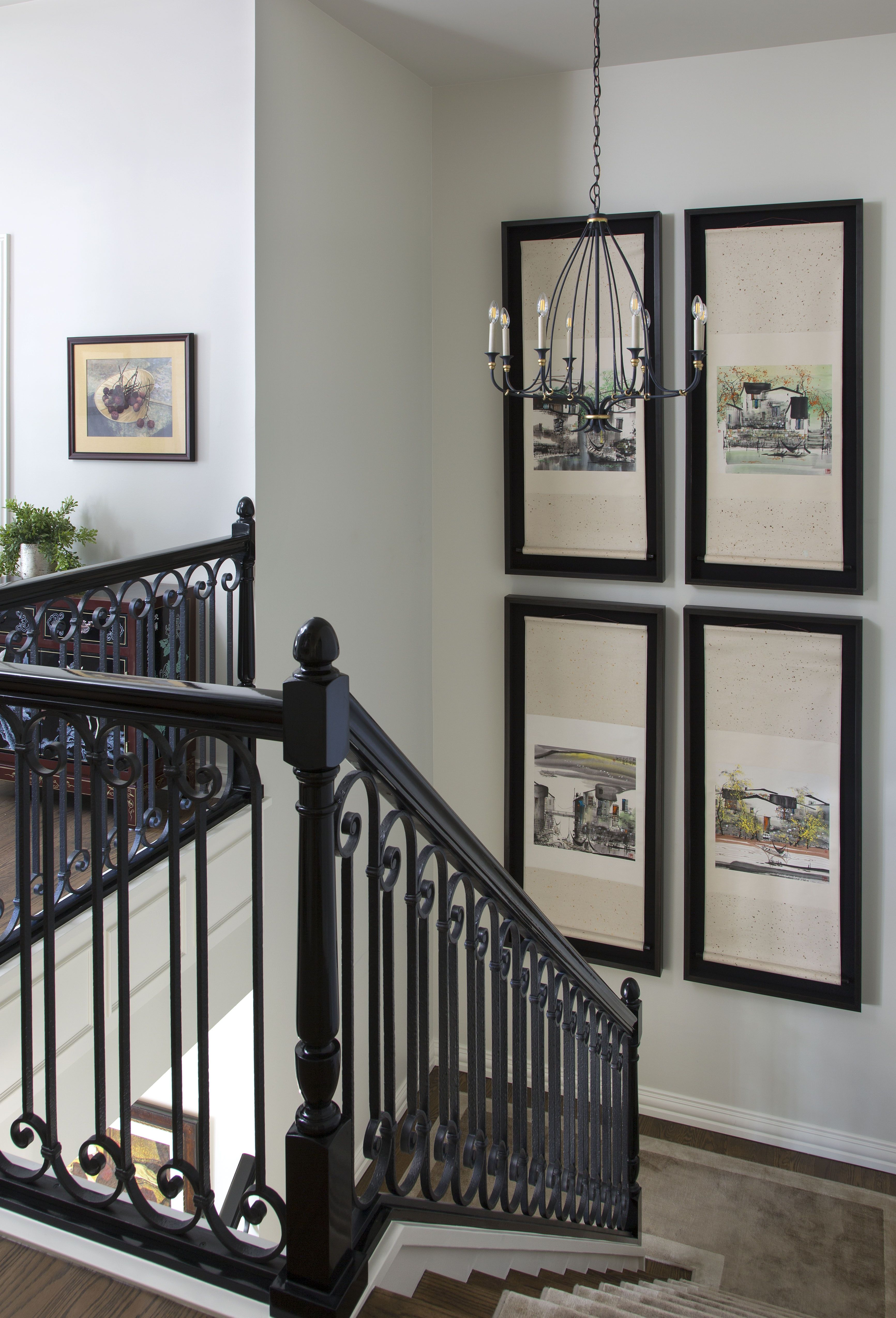 Best French Chateau In Denver Colorado Stair Landing Stair Wall Decor Stairway Decorating 640 x 480