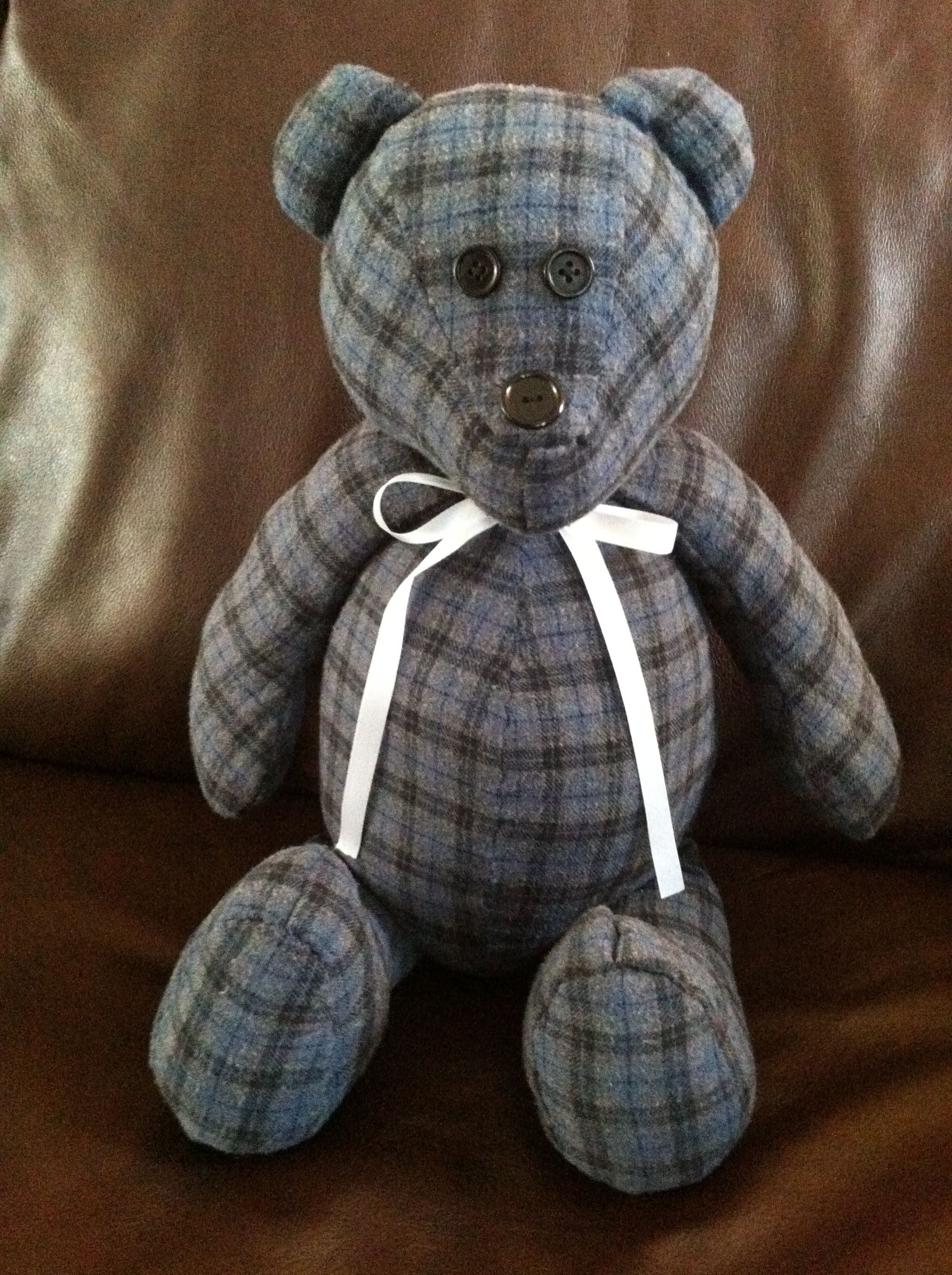 Teddy Plaid Memory Bear Made From One Of My Hubby S Flannel Shirts Www