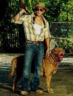 Salman Khan With His Pet Dog In Fact He Has Several Dogs And