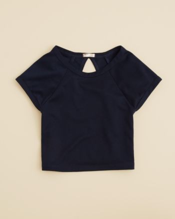 Sally Miller Girls' Ponte Crop Top - Sizes S-xl - Navy #sallymiller