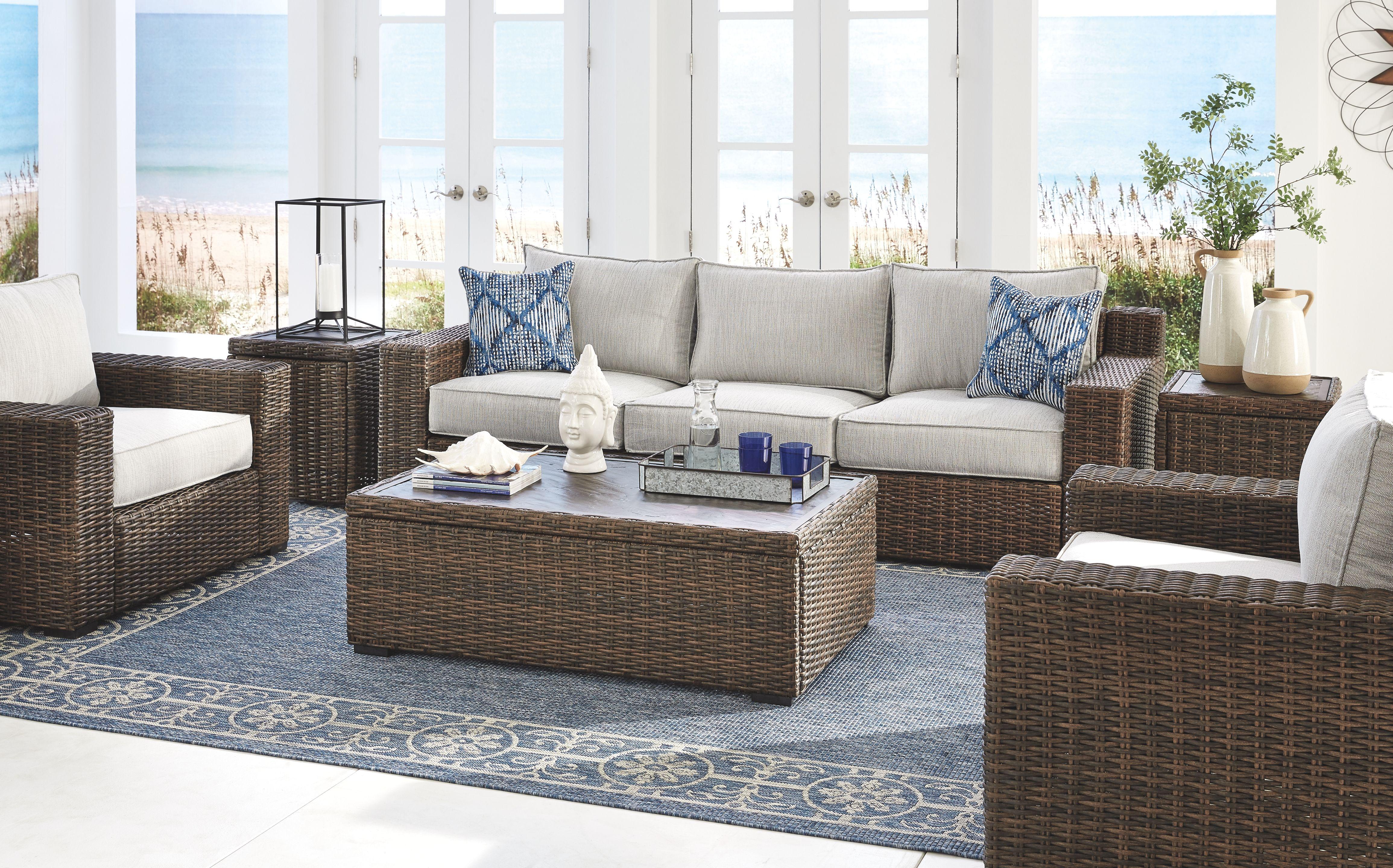 alta grande sofa with cushion ashley