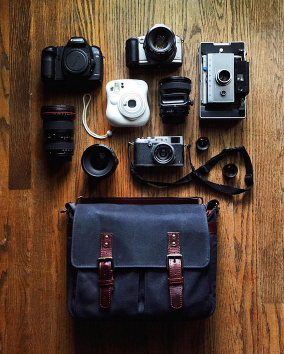@megtsang's travel essentials and her waxed canvas Prince Street #inmyONA