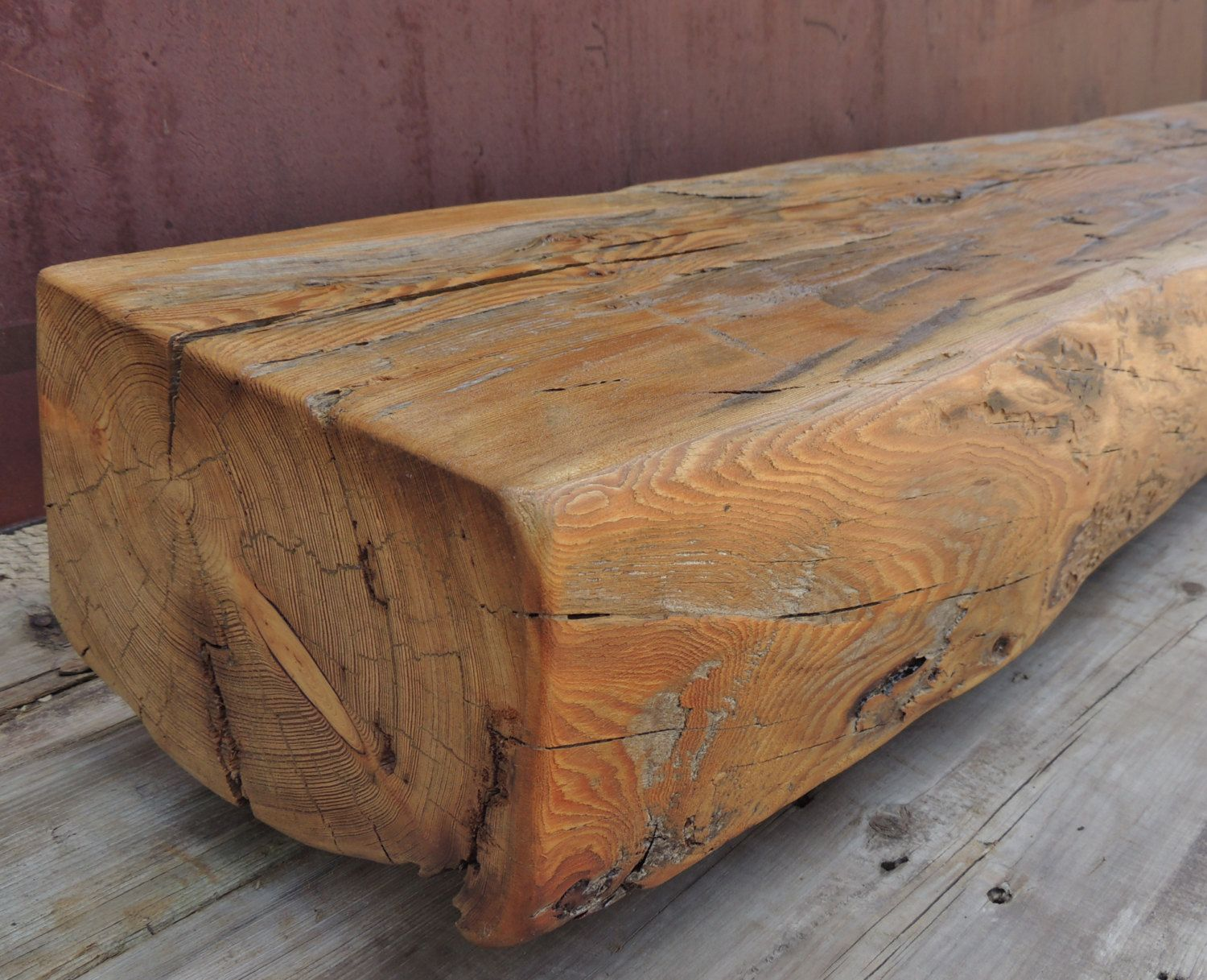 reclaimed wood fireplace mantel or mantle shelf 63 x 10 1 2 x 6 5