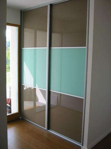 Façade de placard verre laqué Archea bayonne Portes de placard - roulette de porte de placard