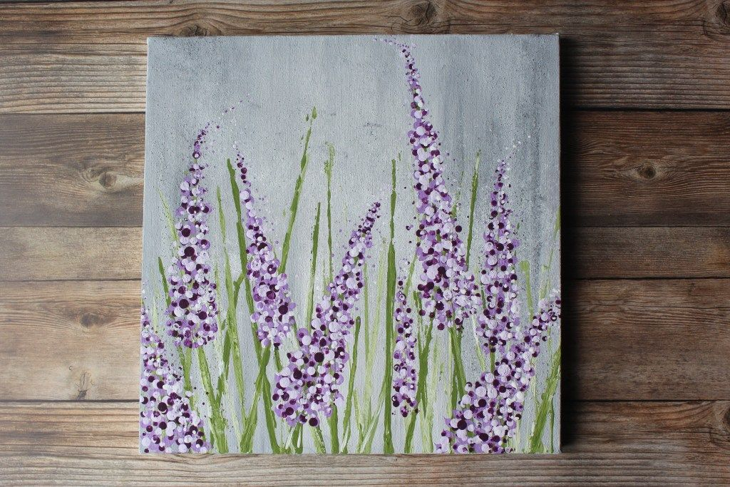 Want To Learn How To Paint Lavender The Easy Way How To Paint Series Acrylic Painting Flowers Lilac Painting Canvas Painting Tutorials