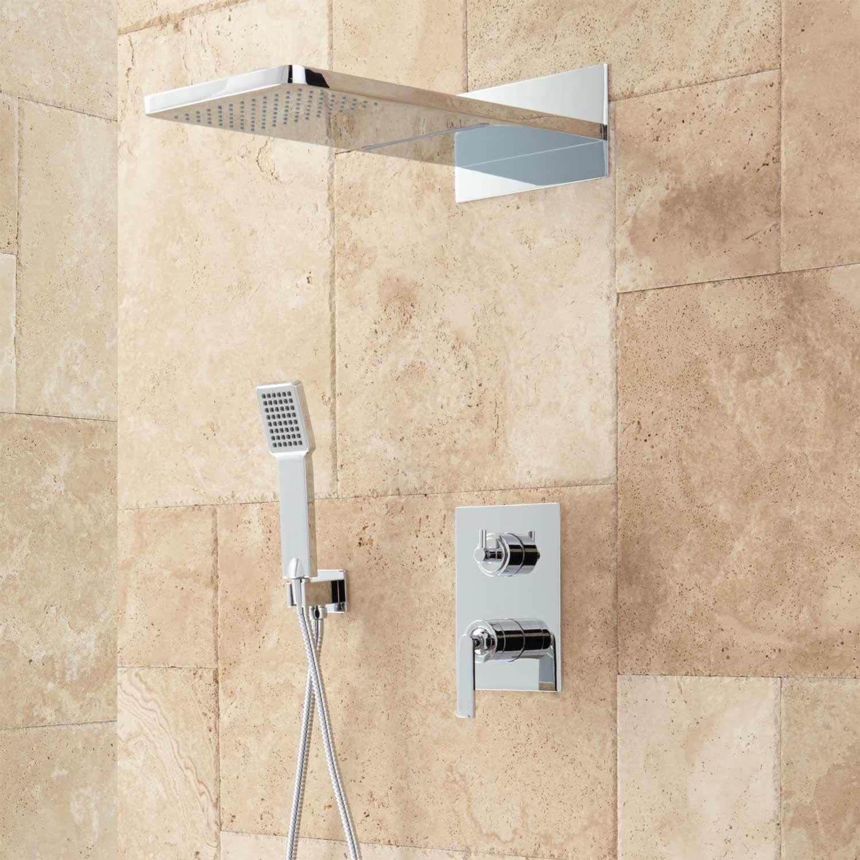 Calhoun Shower System With Rainfall Shower Head Hand Shower