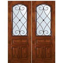 wi ka charleston al 80 2 in 2019 wood doors with wrought iron rh pinterest es