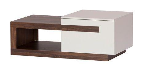 Ani konferenční stolek nemusí být nuda. Tento moderní kousek Luca 1 má neotřelý tvar a nabízí skrytý úložný prostor v podobě skříňky s dvířky a hlubšího šuplíku. MT Nábytek, 3797 Kč; Archiv firmy