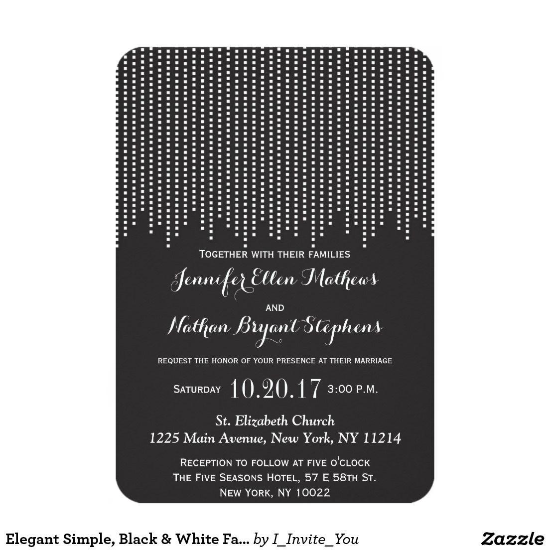 Elegant Simple Black White Falling Confetti 3 5x5 Paper