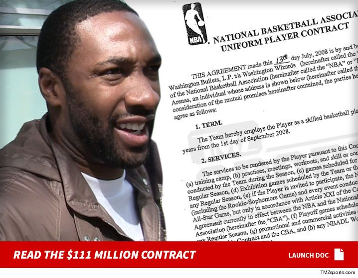 Gilbert Arenas -- Here's My $111 Million NBA Contract ... Take a Look! (DOCUMENT) - http://blog.clairepeetz.com/gilbert-arenas-heres-my-111-million-nba-contract-take-a-look-document/