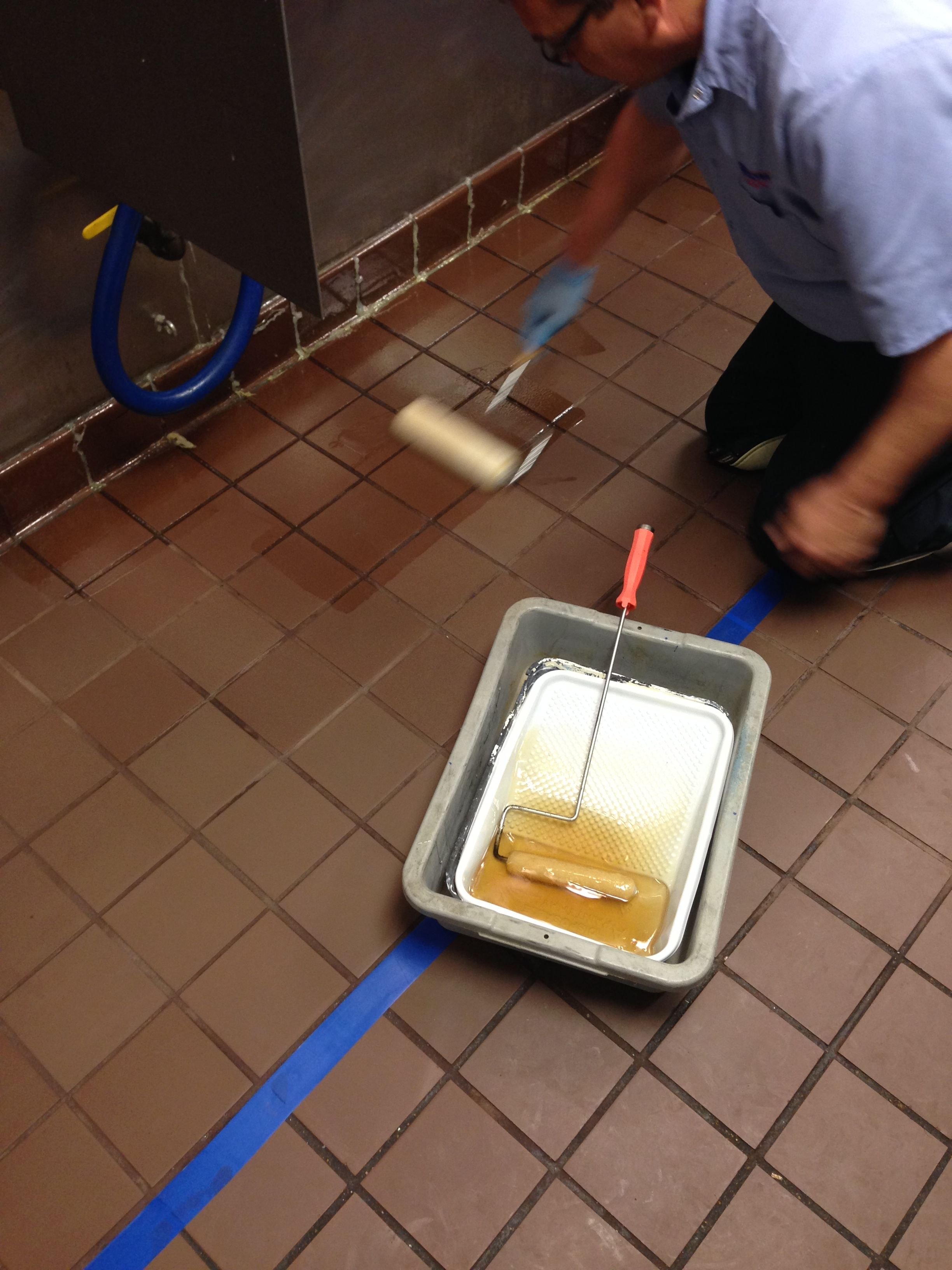 Illinois tile cleaning this restaurant floor had an issue with illinois tile cleaning this restaurant floor had an issue with water and grease seeping through grout and under floor so we did a degreasing clean dailygadgetfo Image collections
