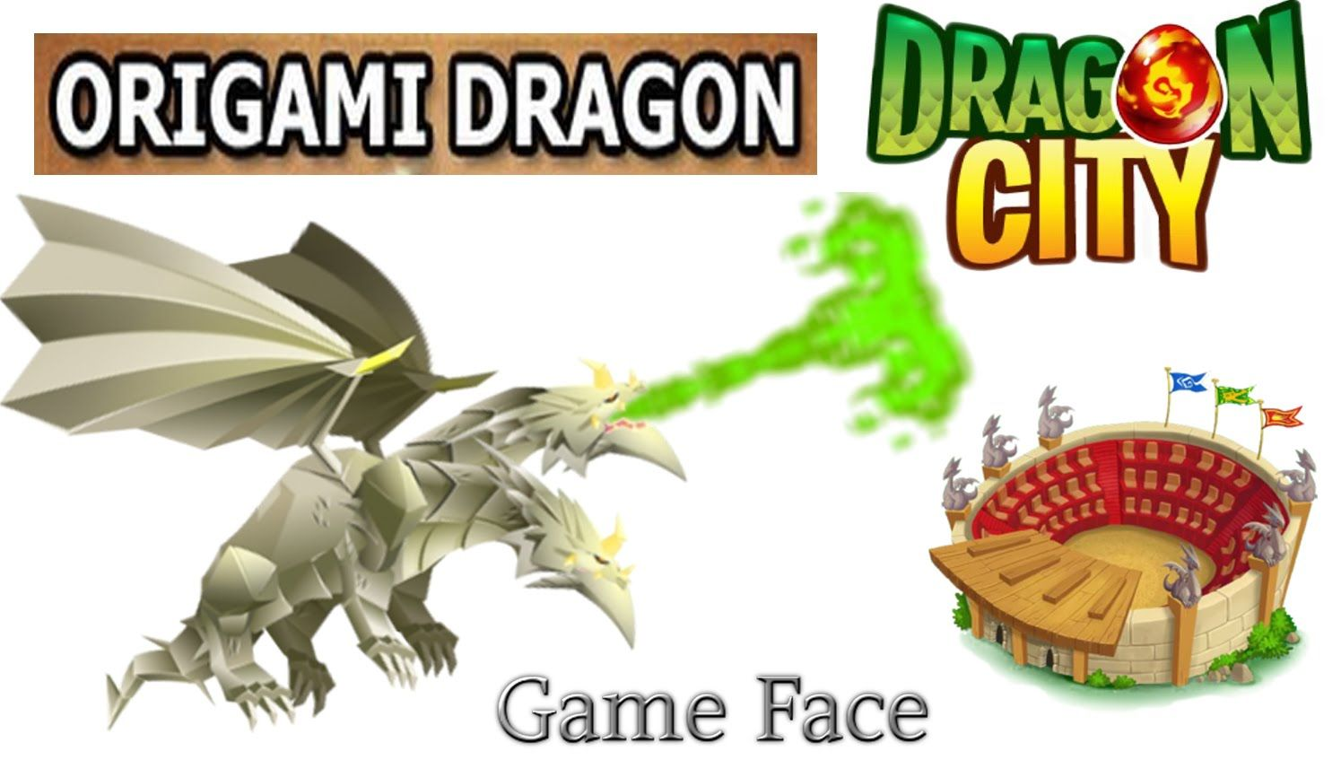 Dragon City Origami Dragon Full Animate Lv 1 To 35 Skill And
