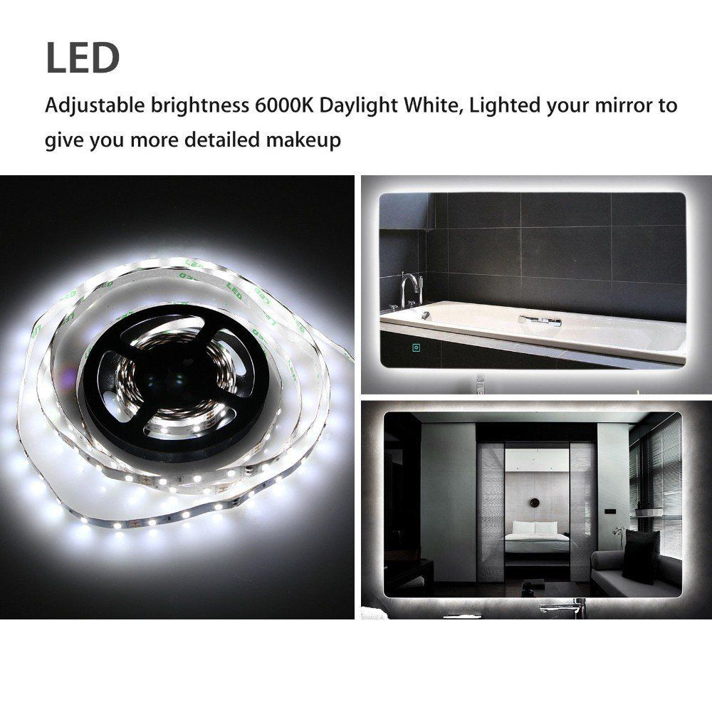 13ft Flexible Led Makeup Vanity Mirror Light Strip Dimmable Dressing Table Kit Click Image To R Mirror With Lights Diy Vanity Mirror Diy Mirror With Lights