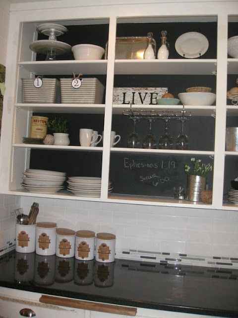 One Project At A Time Tuesday Link Party Decorating With Simple Chalkboard Paint Backsplash Exterior