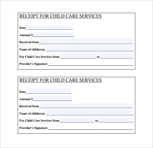 Daycare Receipt Template   Free Word Excel Pdf Format Download