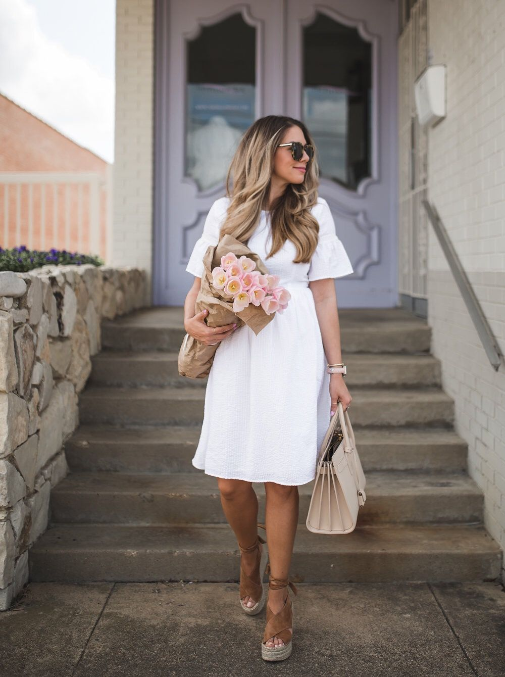 5 White Dresses For The Bride To Be The Teacher Diva A Dallas Fashion Blog Featuring Beauty Lifestyle Rehearsal Dinner Outfits Wedding Shower Dress Wedding Shower Outfit [ 1340 x 1000 Pixel ]