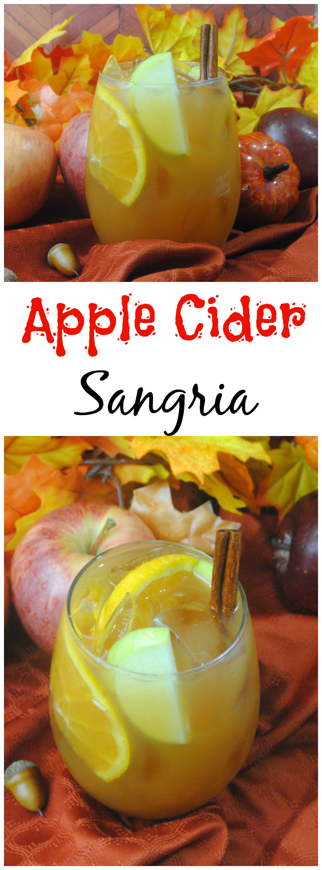 Easy Apple Cider Sangria Recipe | Just Plum Crazy #applecidersangriarecipe