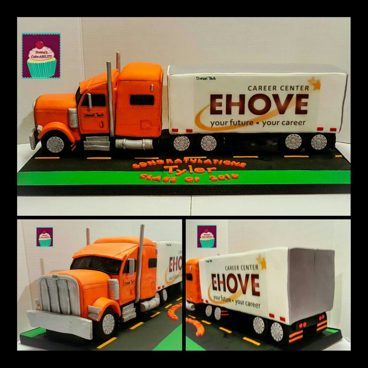 3D Semi Truck and Trailer Cake | Car cake | Pinterest
