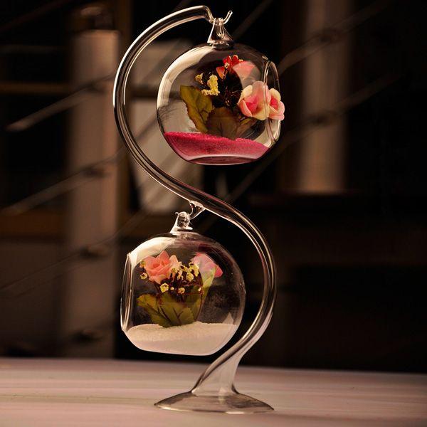 DIY Micro Landscape Hanging Ball Shape Glass Plant Vase Home Garden Party Decoration