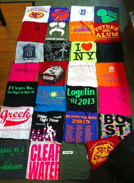 How To Make A No Sew T Shirt Blanket Shirt Quilt Tshirt