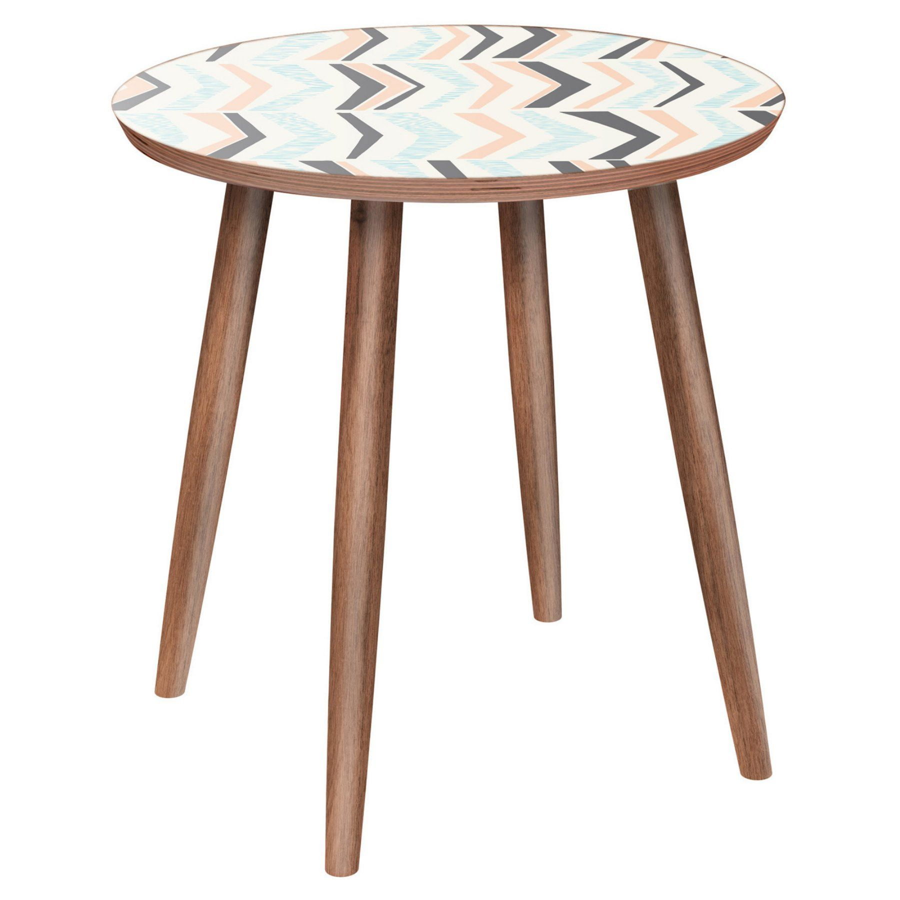 Nyekoncept Stella Chevron Sorbet Dowel Side Table  12004045